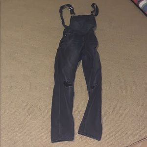 Gray overalls